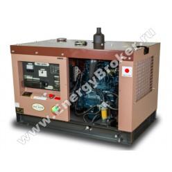 Дизельный генератор TOYO TKV-14TPC (со снятой крышкой)