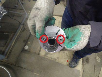 Отверстия с диаметром 5,5-6 мм сверлом, предназначенным для нержавеющей стали