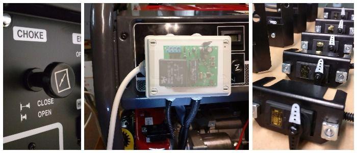 Автоматизация бензиновых генераторов, блок управления заслонкой