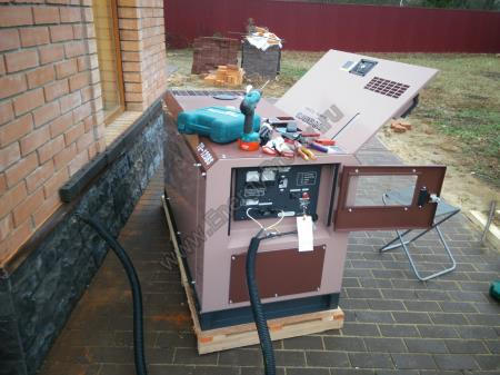 Монтаж дизель-генератора и подключение
