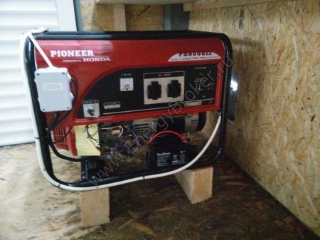 Электрогенератор смонтирован в ангаре
