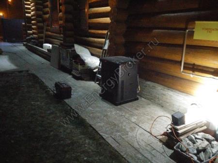 Выхлоп электроустановки повернут в сторону от дома