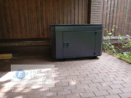 Фотография 1 монтажа генератора Элемакс 10 кВт в ДНП Дубрава