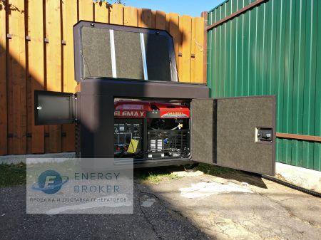 Установка бензинового генератора SH 11000 в Нахабино фото 3