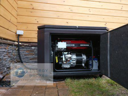 Фото 2 монтаж генератора Honda EG5500CXS в КП Аврора