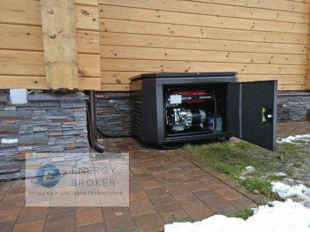 Фото 3 монтаж генератора Honda EG5500CXS в КП Аврора