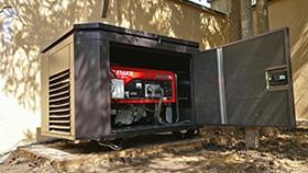 Фото ящика для генератора смонтированный