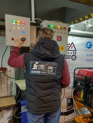 Испытания проводятся сразу с генератором